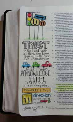Proverbs 3:5-6.  The Lord shall direct our paths.