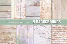 SABBY WOOD WALL BRICK TEXTURES by Area on @creativemarket