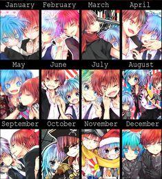 Akabane Karma/Shiota Nagisa Anime Kiss, Manga Anime, Anime Art, Karma Y Nagisa, Koro Sensei, Nagisa Shiota, Manga Couple, Boyxboy, Kirito