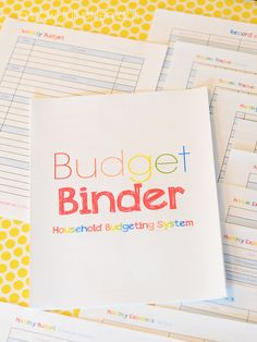 Budget Binder ABFOL 15 pages to help you organize your budget. A great resource for anyone