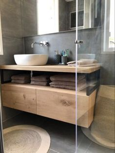 Industrial bathroom furniture with oak and steel. – # bathroom furniture # oak … Industrial bathroom furniture with oak and steel. Bathroom Renos, Laundry In Bathroom, Bathroom Furniture, Home Furniture, Bathrooms, Bathroom Ideas, Furniture Vanity, Wood Vanity, Steel Furniture