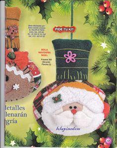 revista muñecos navideños gratis - Blog de Santa clauss Christmas Tree, Christmas Ornaments, Tree Skirts, Holiday Decor, Fun Crafts, Christmas Crafts, Patchwork Navidad, Noel, Teal Christmas Tree