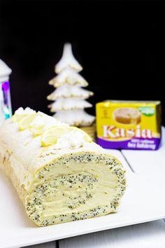 Rolada makowa z kremem cytrynowym Polish Food, Polish Recipes, Cheese, Cake, Mascarpone, Polish Food Recipes, Kuchen, Torte, Cookies