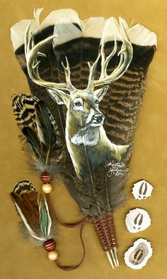 Whitetail Buck Feather by =dittin03 on deviantART