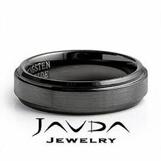 Men Tungsten Carbide Wedding Band Brushed & Polished Comfort Fit 6mm Ring