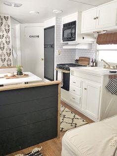 Tour this budget-friendly farmhouse camper! Home, Tiny Living, Diy Camper Remodel, Renovations, Camper Living