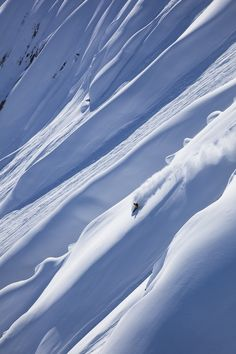 One of the very last freeride shot of this winter season: Xavier De Le Rue, somewhere in North America.
