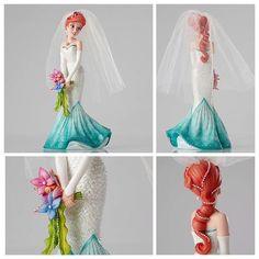 New Ariel Couture de Force figurine - to top my wedding cake Disney Dream, Disney Love, Disney Magic, Disney Art, Disney And Dreamworks, Disney Pixar, Walt Disney, Disney Couture, Princesa Ariel Da Disney