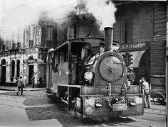 Il Gamba de Legn in corso Vercelli nel 1920