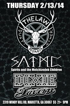 The Law Band with Spirits And The Melchizedek Children at Dixie Tavern on Thursday February 13, 2014 (*cancelled due to Snowpacalypse!)