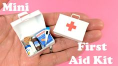 DIY Miniature First Aid Kit & Accessories - Band Aids, Thermometer, Med...