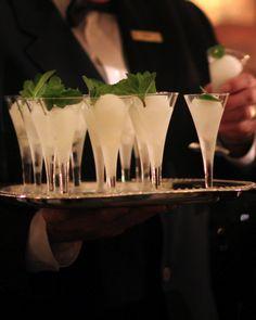 Lemon Drop Dream | David Tutera...lemon sorbet, champagne, vodka, whipping cream and mint to garnish