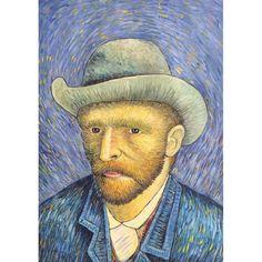 Self-portrait with Grey Felt Hat - Van Gogh Mini Art Print by Fine Earth Prints - Without Stand - x Van Gogh Art, Van Gogh Museum, Van Gogh Paintings, Blue Painting, Felt Hat, Vincent Van Gogh, Famous Artists, Cool Art, Art Prints