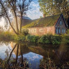 Instagram media by jeanpaulbardelot - The abandoned house in the morning sun... #oostknollendam #zaanstad #holland