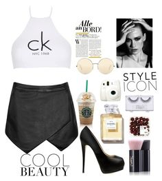 """""""Untitled #27"""" by tho0134 on Polyvore featuring Victoria Beckham, Giuseppe Zanotti, Yves Saint Laurent, Calvin Klein, Fuji and Sonia Kashuk"""