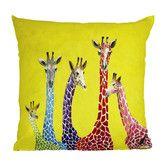 Found it at Wayfair - Clara Nilles Jellybean Giraffes Indoor/Outdoor Throw Pillow
