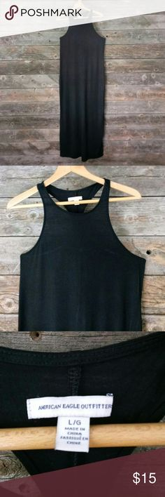 American Eagle Outfitters dress size large American Eagle Outfitters dress size large. Razor back dress. Has slit on bottom middle back of dress. American Eagle Outfitters Dresses