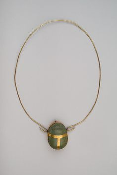 Heart Scarab of Maruta. Period: New Kingdom. Dynasty: Dynasty 18. Reign: reign of Thutmose III. Date: ca. 1479–1425 B.C. Medium: Gold, greenschist.