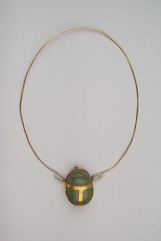 Heart Scarab of Maruta. Period: New Kingdom. Dynasty: Dynasty 18. Reign: reign of Thutmose III. Date: ca. 1479–1425 B.C. Medium: Gold, greenschist.
