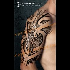 halfsleeve tribal tattoo with turtle design examples