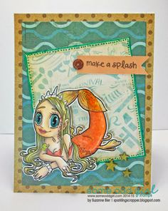 """Mermaid Queen"" digital stamp by Some Odd Girl Stamps."