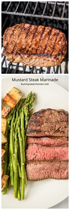 Mustard Steak Marinade - Bunny's Warm Oven Mustard Steak Marinade - The ingredients are simple, the outcome is fantastic. This delicious marinade worked beautifully to tenderize the steak while giving it wonderful flavor. Beef Casserole Recipes, Steak Recipes, Grilling Recipes, Rub Recipes, Drink Recipes, Keto Recipes, Healthy Recipes, Veggie Side Dishes, Barbecue