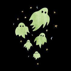 Halloween ghosts... spooky tshirt design for Halloween