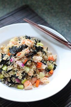 Brown Rice Sushi Salad - All the flavors of sushi but can be made at home with no rolling.