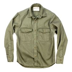 Huckberry Explorer's Shirt. 10oz stone washed duck canvas, can be waxed for waterproofing $124.98