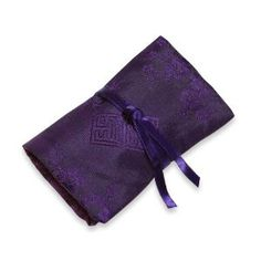 Jewelry Roll (XS) - Silk Jacquard (Deep Purple)