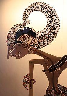 Indonesia: a Wayang kulit figure. Shadow Art, Shadow Play, Cardboard Sculpture, Indonesian Art, Marionette, Batik Pattern, Bali, Javanese, Shadow Puppets