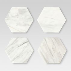 Marble Stackable Coasters White - Set of 4 - Threshold™ - image 1 of 1