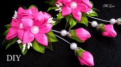 How to Make Flower Petals / Kanzashi Flowers Petals Tutorial, Kanzashi Tatiana Vasyliuk Diy Lace Ribbon Flowers, Ribbon Art, Satin Flowers, Diy Ribbon, Ribbon Crafts, Flower Crafts, Fabric Flowers, Hand Embroidery Tutorial, Hand Embroidery Designs