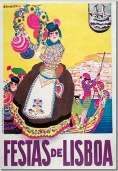 Poster of the midsummer Festivals in June Visit Portugal, Portugal Travel, Spain And Portugal, Portugal Tourism, Vintage Advertisements, Vintage Ads, Vintage Images, San Antonio, History Of Portugal