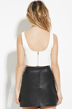 Sweetheart Neckline Crop Top