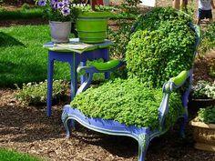 chair garden!