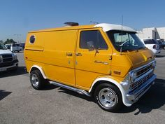 mustard yellow short wheelbase econoline custom