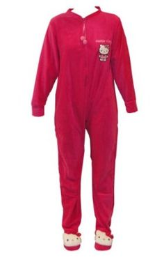 Hello Kitty Comfy n' Cozy Solid Footed Pajamas
