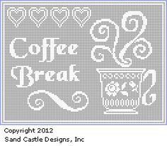 Filet Crochet Patterns and Crochet Software. Create filet crochet patterns on your PC, then print your design and instructions. Crochet Kitchen, Crochet Home, Free Crochet, Crochet Patterns Filet, Crochet Diagram, Afghan Patterns, Cross Stitch Charts, Cross Stitch Embroidery, Cross Stitch Patterns