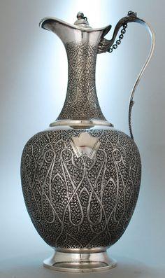 Kashmiri (Srinagar) Claret Jug - Sterling Silver 1890