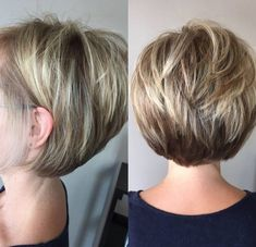 25 Short Hairstyles: The Best Short Haircuts Of The Best Short Haircuts Of. 25 Short Hairstyles: The Best Short Haircuts Of The Best Short Haircuts Of 2020 Currently, super stylish women do not choose haircuts such as bo. Short Hairstyles For Thick Hair, Short Hair With Layers, Best Short Haircuts, Curly Hair Styles, Cool Hairstyles, Hairstyle Ideas, Layered Haircuts, Hairstyles For Over 40, Short Hair Cuts For Women Over 40