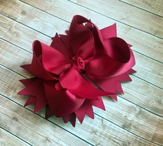 Stacked boutique hair bow, Girls hair bows, Maroon, Pageants, Weddings, Boutique hair bows, baby, toddlers hair accessory hair clip