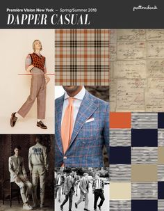 Première Vision New York - S/S 2018 Vintage Menswear / Un-ironed Shirting / Small Scale Dots and Diamonds / Seersucker Backgrounds / Miniature Motifs Windowpane Plaids / Thin Stripes / Wooly Tweeds / Woven Textures / Herringbone