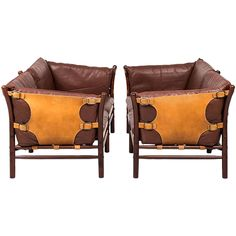 Arne Norell Pair of Sofas Model Ilona by Arne Norell AB in Sweden | See more antique and modern Sofas at https://www.1stdibs.com/furniture/seating/sofas