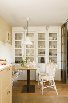 Dream Furniture, Furniture Design, Dinning Chairs, Dining, Built In Cabinets, Home Hardware, Cuisines Design, Simple House, Home Decor Inspiration