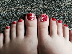 Winter toe nails nails toe nails, toe nail designs и fall to Fall Toe Nails, Summer Toe Nails, Xmas Nails, Holiday Nails, Winter Nails, Diy Nails, Pedicure Designs, Toe Nail Designs, Nails Design