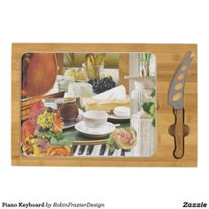 Piano Keyboard Cheese Platter