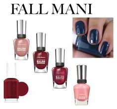 """Fall manicure contest 2015"" by shycoygirl65 on Polyvore featuring beauty, Sally Hansen and Essie"