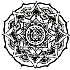 Mandala Designs, moonlitwoodland: quick simple mandala sketch #8