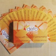 Business Cards for Defo Totes printed on 400gsm Silk defototes.com #businesscards #printing #southend